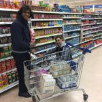 Lloyd's volunteers in supermarket sweep for Barking Foodbank